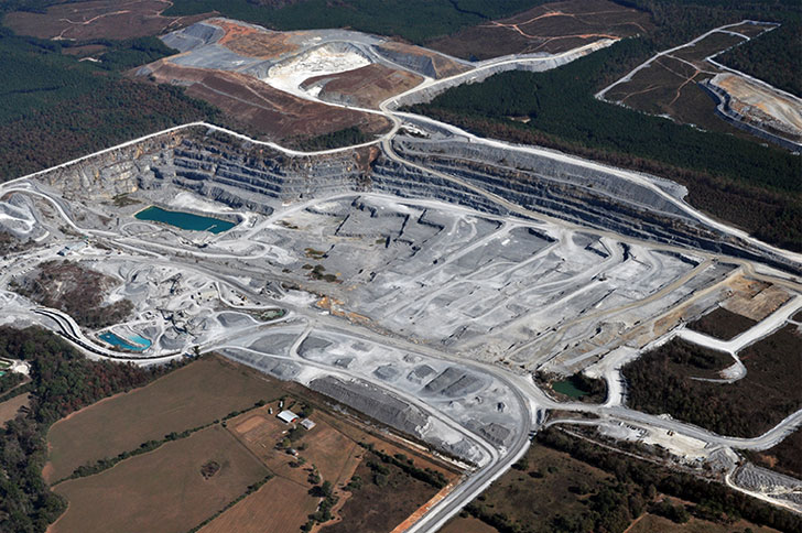 Limestone Mine Materials Handling | ACC Companies Projects